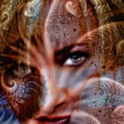 Fractal Eyes Art Print