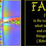 Fractal Faith Hebrews 11 Art Print by Rose Santuci-Sofranko