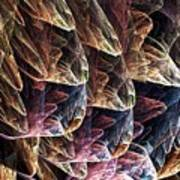 Fractal Filled Plastic Bags Art Print