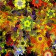 Fractal Floral Study 10-27-09 Art Print