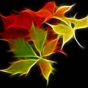 Fractal Leaves Art Print