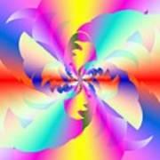 Fractal Rainbow Art Print