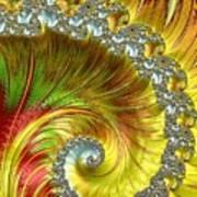 Fractal Spiral Three Art Print