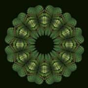 Fractal Wreath-32 Spring Green T-shirt Art Print