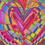 Fractured Heart Art Print