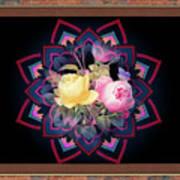 Framed Rose Bouquet Montage Art Print