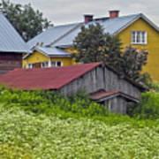Framehouses In Finland Art Print