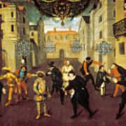 France: Comedy, 1670 Art Print