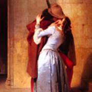 Francesco Hayez Il Bacio Or The Kiss Art Print