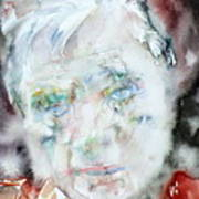 Francis Bacon - Watercolor Portrait.2 Art Print