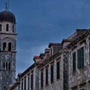 Franciscan Monastery Tower - Dubrovnik Art Print
