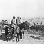 Francisco Pancho Villa (1878-1923). Mexican Revolutionary Leader. Photographed While Reviewing Troops, C1914 Art Print