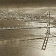 Francisco Sky Line Vintage  Art Print