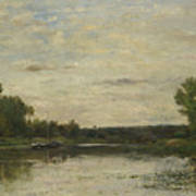 Francois Daubigny   View On The Oise Art Print