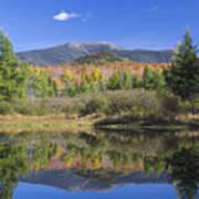 Franconia Autumn Reflections Art Print