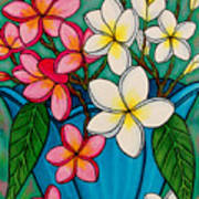 Frangipani Sawadee Art Print