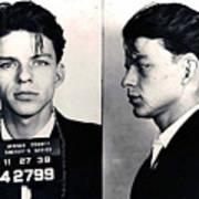 Frank Sinatra Mug Shot Horizontal Art Print
