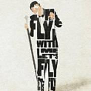 Frank Sinatra Typography Art Art Print
