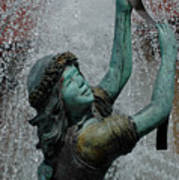 Frankenmuth Fountain Girl Art Print