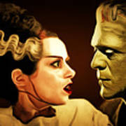 Frankenstein And The Bride I Have Love In Me The Likes Of Which You Can Scarcely Imagine 20170407 Art Print