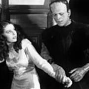 Frankensteins Monster Molests Young Girl Boris Karloff Art Print