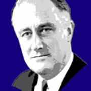 Franklin D. Roosevelt Grayscale Pop Art Art Print