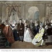 Franklin's Reception At The Court Of France Art Print