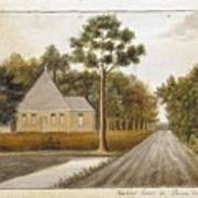 Fraser  Charles   Meeting House In Prince Williams Parish From Untitled Sketchbook Art Print