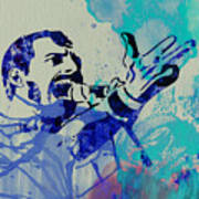 Freddie Mercury Queen Art Print by Naxart Studio