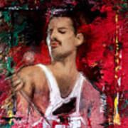 Queen Freddie Mercury Art Print