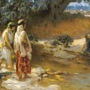 Frederick Arthur Bridgman 1847   1928 American At The Water S Edge Art Print