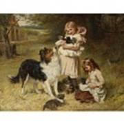 Frederick Morgan  R O I  British  1847 1927  And Allen Culpepper Sealy  British  1850 1927  Rival Fa Art Print