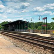 Fredericksburg Rail Station Art Print