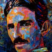 Free Energy Nikola Tesla Art Print