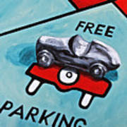 Free Parking Art Print by Herschel Fall
