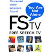 Free Speech Tv Art Print