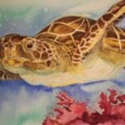 Free To Swim Art Print