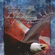 Freedom Greeting Card Art Print by William Martin