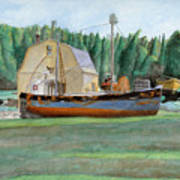 Freeport Fishing Boat Art Print