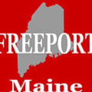 Freeport Maine State City And Town Pride  Art Print