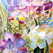 Freesias  Art Print by Therese AbouNader