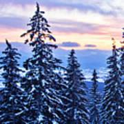 Freezing Sunset 14 Art Print