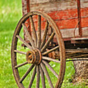 Freight Wagon Wheel Art Print