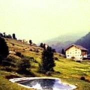 French Alps 1955 Art Print