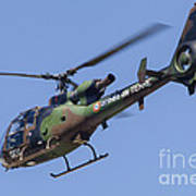 French Army Gazelle Helicopter Art Print