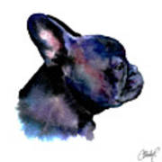 French Bulldog Portrait Art Print