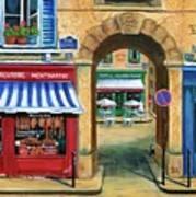 French Butcher Shop Art Print