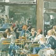 French Cafe Scene  Art Print