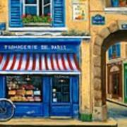French Cheese Shop Art Print by Marilyn Dunlap