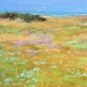French Coastal Landscape Art Print